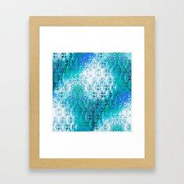 Connectedness (blue) Framed Art Print