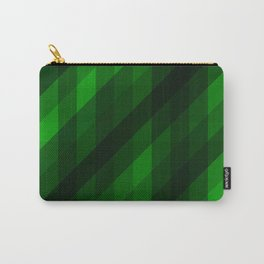 Weaving Green Diamonds Pattern Carry-All Pouch