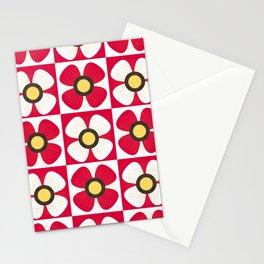 Poppy red Stationery Cards