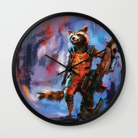 rocket Wall Clocks featuring Rocket by Wisesnail