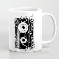 cassette Mugs featuring cassette by barmalisiRTB