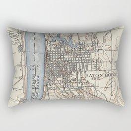 Vintage Map of Baton Rouge Louisiana (1906) Rectangular Pillow