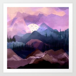 Misty Mountain Morning Art Print