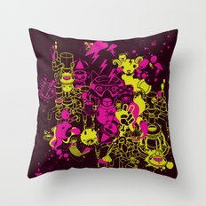 Dream Factory Pink and Yellow Throw Pillow