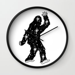 SpaceSquatch Wall Clock