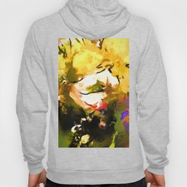 White Flower Eye Hoody
