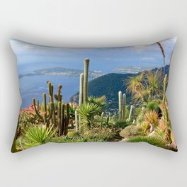 Cactus Garden of Eze Village Rectangular Pillow