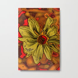 Sun Flower Picasso style Metal Print
