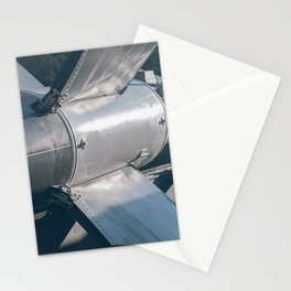 Ballistic Rocket. Nuclear Missile With Warhead. Stationery Cards