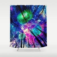 decal Shower Curtains featuring My sky  by haroulita