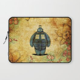 changes into a tardis Laptop Sleeve
