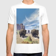 Awesome running bisons Mens Fitted Tee White MEDIUM
