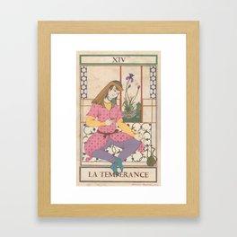 Tarot Card-The Temperance Framed Art Print