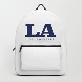 LA - Typography Sign - Los Angeles Backpack
