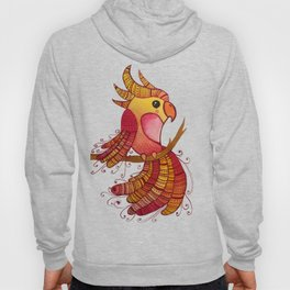Red Tropical Bird Hoody