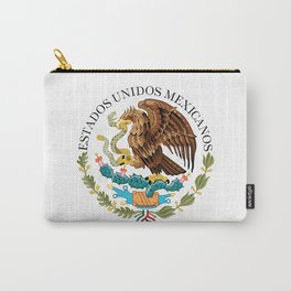 Coat of Arms & Seal  of Mexico on white Carry-All Pouch