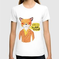 movie T-shirts featuring Because I'm a Wild Animal by Nan Lawson