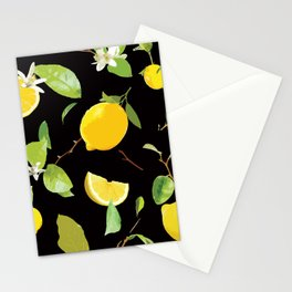 Watercolor Lemon & Leaves 7 Stationery Cards