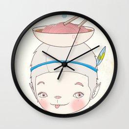 맛! Bon appetit bizarre nouille restaurant ! Wall Clock