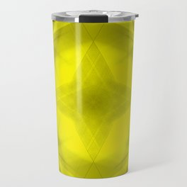 Scalding triangular strokes of intersecting sharp lines with yellow triangles and a star. Travel Mug