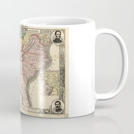 Map of the Southern States during the Civil War (1863) Coffee Mug