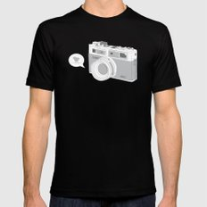 Yashica Camera - blue bird Black MEDIUM Mens Fitted Tee