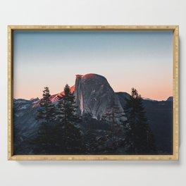 Last Light at Yosemite National Park Serving Tray