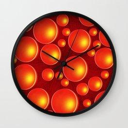 Orange bubbles Wall Clock