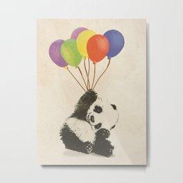 Fly Away Panda Metal Print