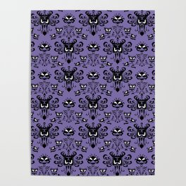 Purple Haunted Mansion Wallpaper Poster