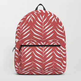 Palm trees in red Backpack