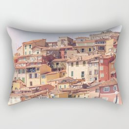 Old village of Menton French Riviera in summer Rectangular Pillow