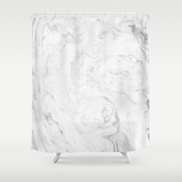 Light grey marble Shower Curtain