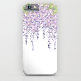 Wisteria flowers iPhone Case
