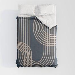 Lines in Midnight Comforters