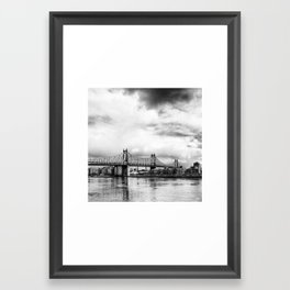 Queensboro Bridge. Framed Art Print