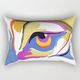 colored eye Rectangular Pillow