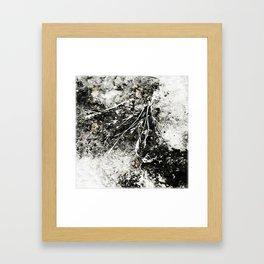 Grunge Monochrome Semi Abstract Nature Theme Framed Art Print