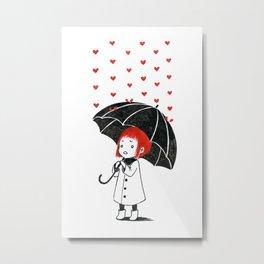 Love rain Metal Print