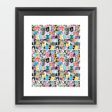 Alpha Pattern Framed Art Print