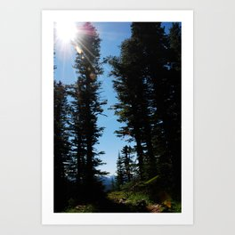 A path to a better place Art Print