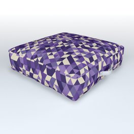 Purple Triangles Outdoor Floor Cushion