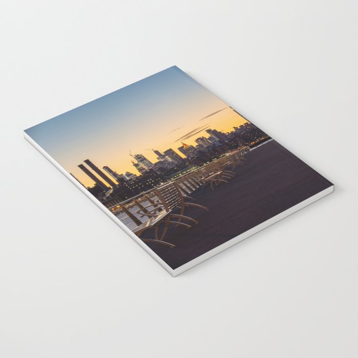 Sunset in New York City (Color) Notebook