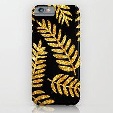 Golden leaf pattern #society6 iPhone 6s Slim Case