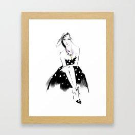 Polka Dot Dress Framed Art Print