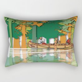 Land Of The American Natives No. 4 Rectangular Pillow