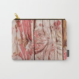 Abstract Art Of Old Wood Carry-All Pouch