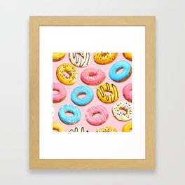 Donuts Pink Modern Decor Contemporary Modern Décor Framed Art Print