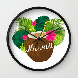 Hawaii for Men Women and Kids Wall Clock