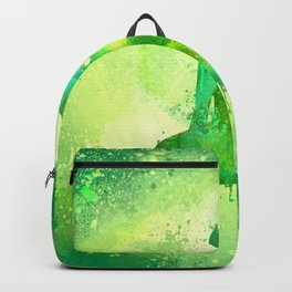 Green Watercolor Buddha Painting Backpack